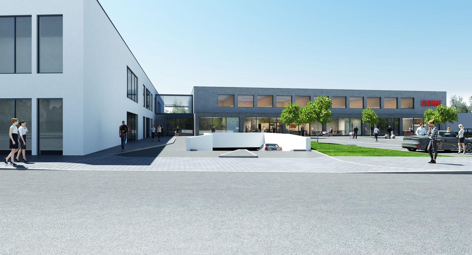 REWE Berlin Friedrichshain Revaler Str. Innovatives Pilotprojekt: Infraleichtbeton im Gewerbebau