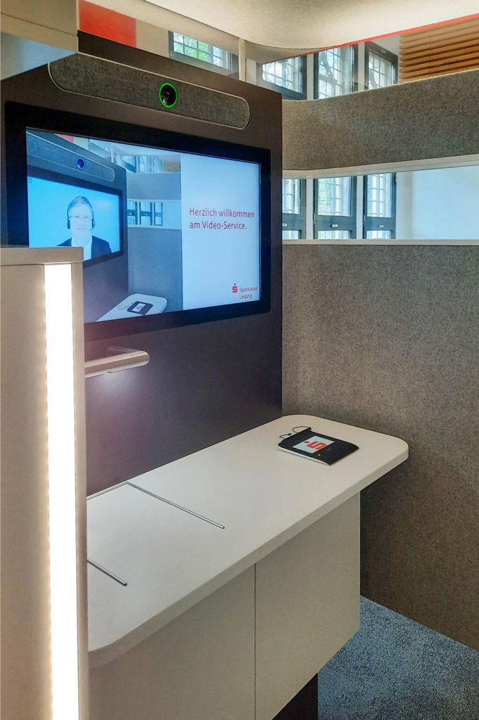 Sparkasse-Videokabine